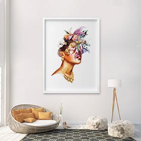 Пример оформления интерьера для арт принта Flowerlady
