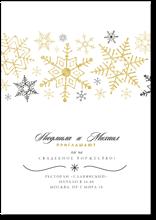 Снежинки - свадебное приглашение