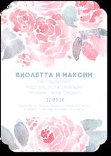 Нежные пионы - свадебное приглашение