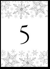 Снежинки - номер стола №2