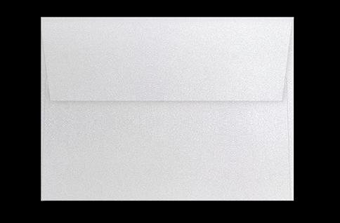 Серебряный конверт с прямым клапаном