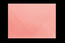 Коралловый конверт с треугольным клапаном