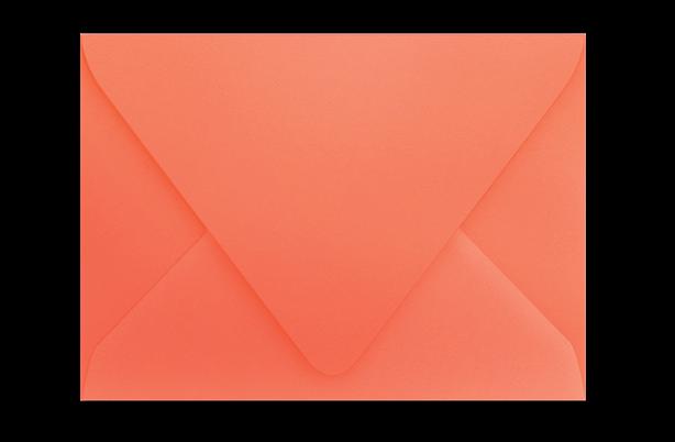Конверт с треугольным клапаном цвета папайи