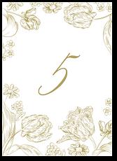 Тюльпаны - номер стола