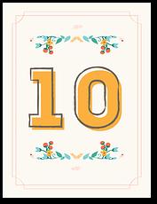 Цветы и травы - номер стола
