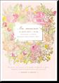 Цветочный флёр - свадебное приглашение