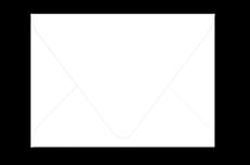 Белый конверт с треугольным клапаном