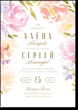 Акварельные цветы - свадебное приглашение