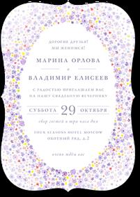 Цветочная вуаль - свадебное приглашение