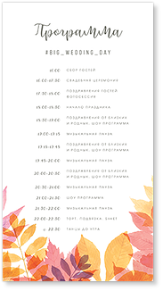 Осенний день - программа дня
