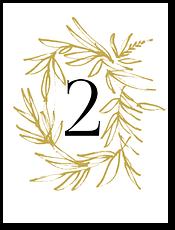 Золотые кольца - номер стола