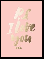"Открытка ""P.S. I love you"""