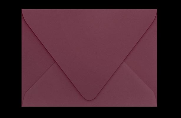 Конверт с треугольным клапаном винного цвета