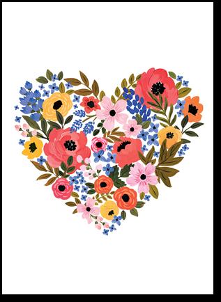 """Открытка """"Цветочное сердце"""""""