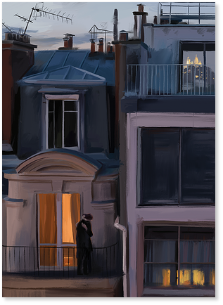 """Открытка """"Парижские окна"""""""