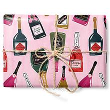 """Бумага """"Шампанское на розовом фоне"""""""