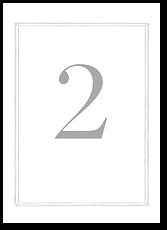 Фамильный герб - номер стола