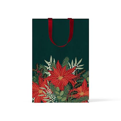 """Пакет подарочный """"Пуансеттия"""" А5"""