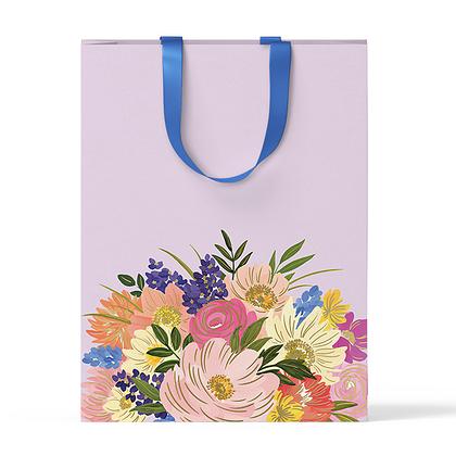 """Пакет подарочный """"Крупные цветы"""" А4"""