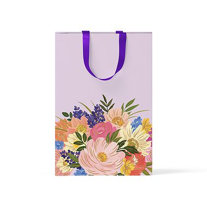 """Пакет подарочный """"Крупные цветы"""" А5"""