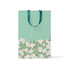 """Пакет подарочный """"Цветы на зеленом фоне"""" А5"""