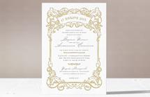 Барокко - свадебное приглашение