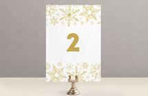 Снежинки - номер стола