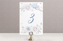 Цветочный венок - номер стола