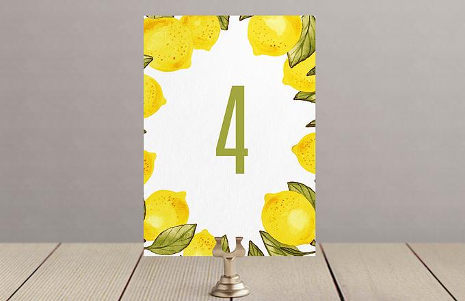 Лимоны - номер стола
