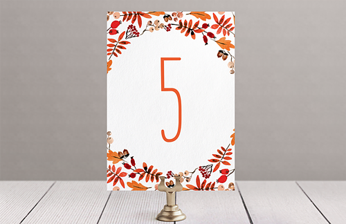 Осень - номер стола