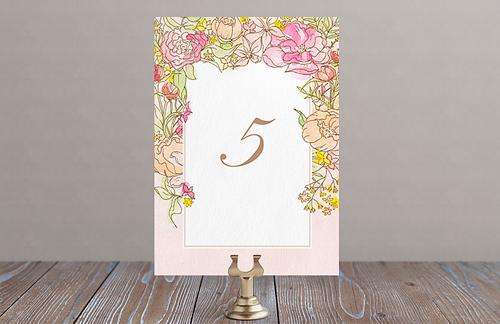 Цветочный флёр - номер стола