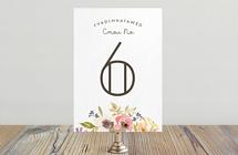 Летние цветы - номер стола