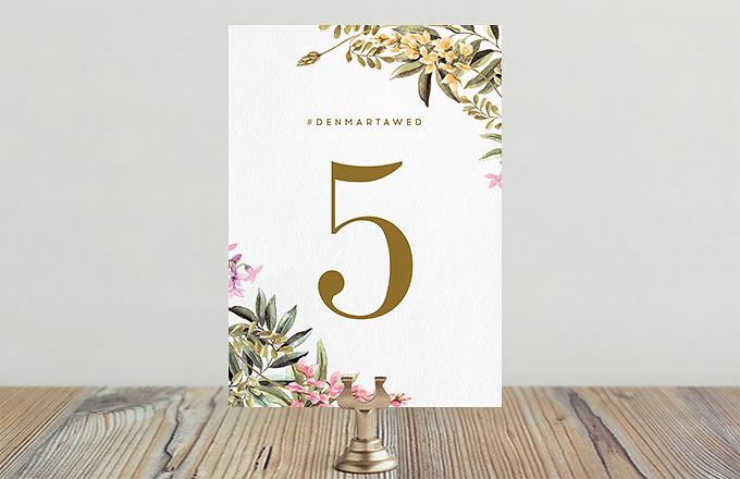 Цветы на лугу - номер стола