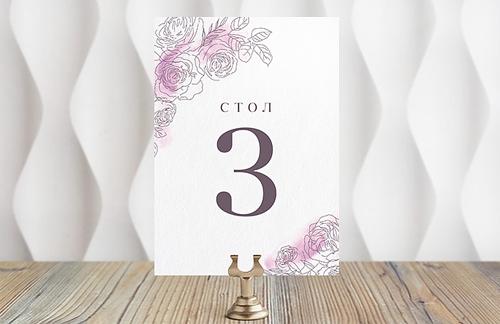 Зимние розы - номер стола