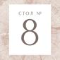 Mini square number close up