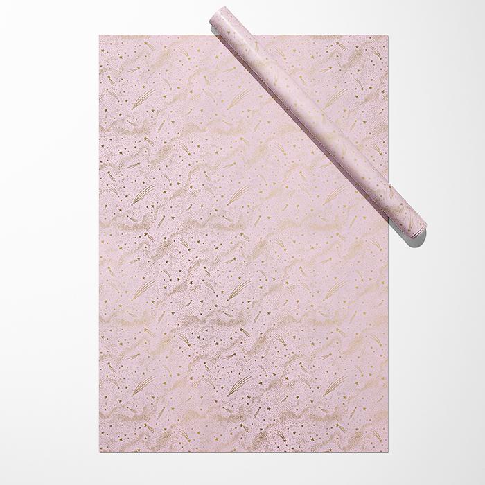 """Бумага """"Звёзды на розовом фоне"""""""