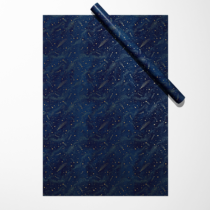 "Бумага ""Звёзды на тёмно-синем фоне"""