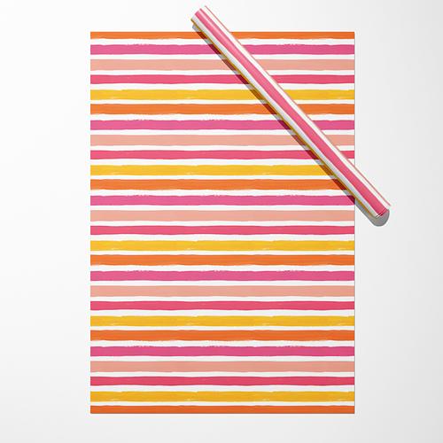 """Бумага """"Широкие розово-жёлтые полосы"""""""