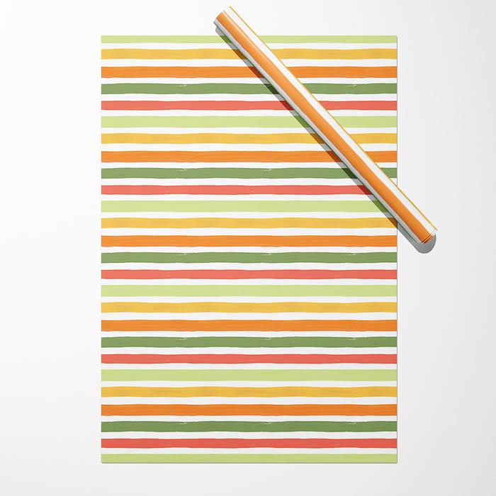 """Бумага """"Широкие зелёно-жёлтые полосы"""""""