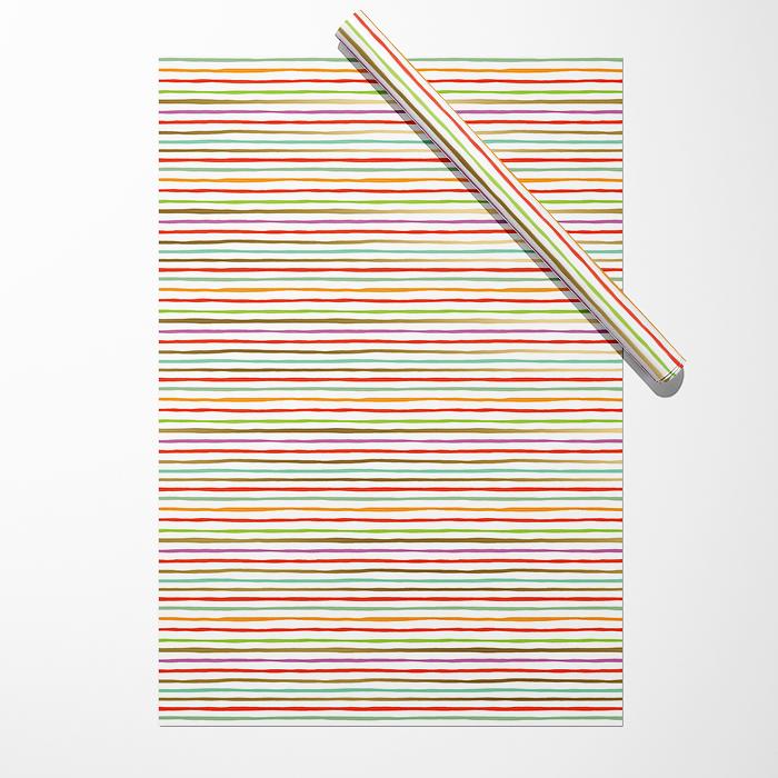"""Бумага """"Тонкие разноцветные полосы"""""""