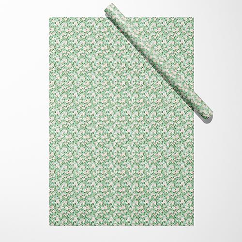 """Бумага """"Цветы на зелёном фоне"""""""