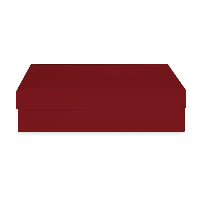 Коробка бордовая 310х210х80 мм