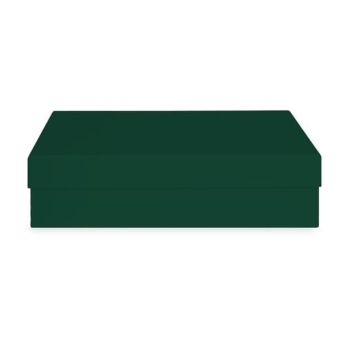 Коробка тёмно-зелёная 310х210х80 мм